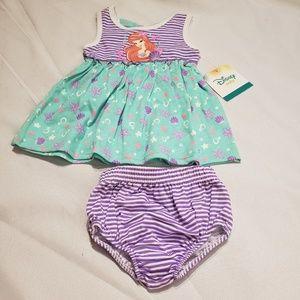 Disney baby girls little mermaid dress size 0/3 m